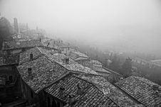 Free Black And White, Fog, Urban Area, Sky Royalty Free Stock Photos - 118779508