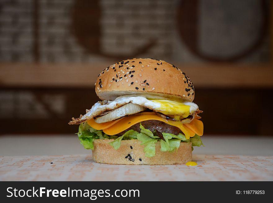 Hamburger, Fast Food, Sandwich, Veggie Burger