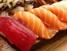Free Cuisine, Smoked Salmon, Sushi, Sashimi Royalty Free Stock Photography - 118780247