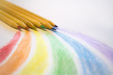 Free Brown Colored Pencils On White Printer Paper Royalty Free Stock Photo - 118920775