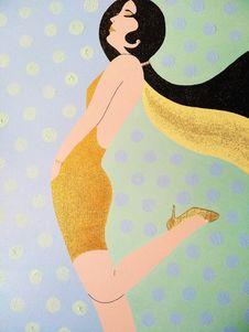 Free Yellow, Art, Beauty, Girl Stock Images - 118941404