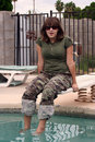 Free Girl With Camouflage Stock Photos - 1195203