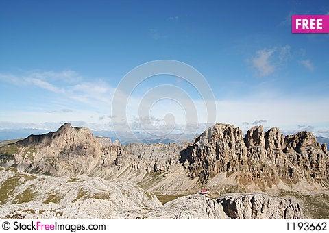 Free Mountain Range In The Dolomites,Italy Stock Photography - 1193662