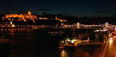 Free Budapest Skyline At Night Royalty Free Stock Photos - 1190678