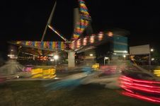 Long Exposure Scrambler Ride With Motion Blur Royalty Free Stock Image