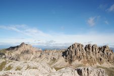 Mountain Range In The Dolomites,Italy Stock Photography