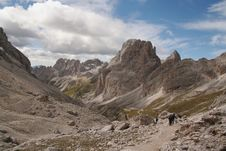 Free Trekkers In The Dolomites,Italy Stock Images - 1193724