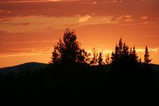 Free Orange Sky! Royalty Free Stock Image - 1194546