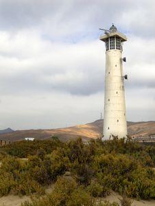 Free Lighthouse On The Beach Royalty Free Stock Photos - 1195008