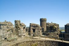 The Old Castle Of Conway Royalty Free Stock Images