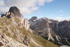 Mountain Scene In The Dolomites Royalty Free Stock Photos