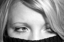 Free Hidden Woman Royalty Free Stock Photography - 1196507