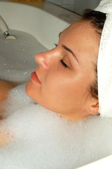 Free Attractive Girl In Bath 8 Royalty Free Stock Images - 1197609