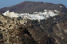White House On Volcanic Island Royalty Free Stock Image