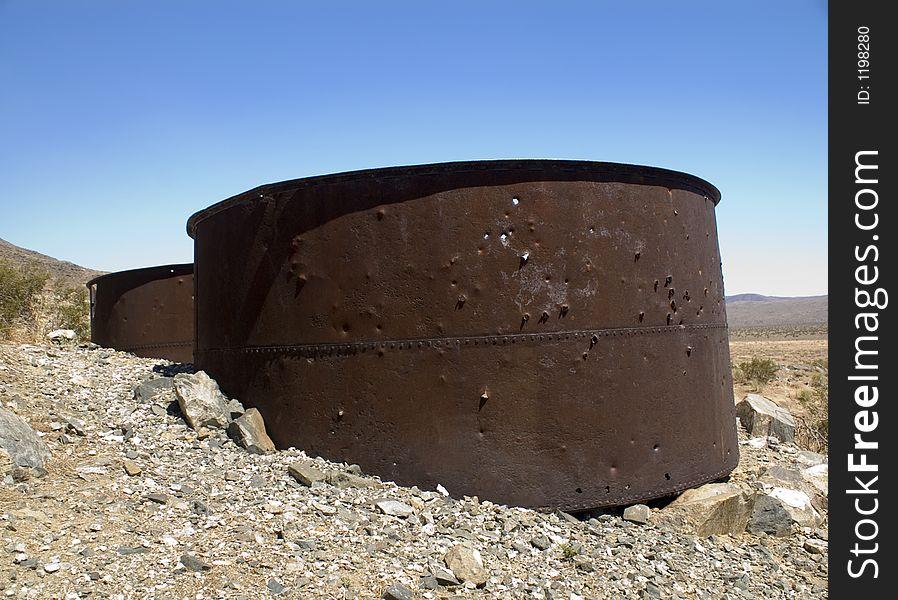 Rusty Storage Drums