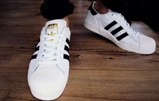 Free Pair Of White-and-black Adidas Superstars Royalty Free Stock Photo - 119007945