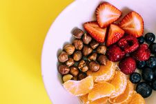 Free Assorted Fruits On White Ceramic Plate Stock Photography - 119007952