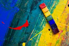 Free Abstract Color Painting Royalty Free Stock Photo - 119007975