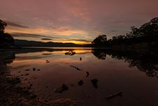 Free Reflection, Water, Loch, Sunset Royalty Free Stock Photography - 119034547