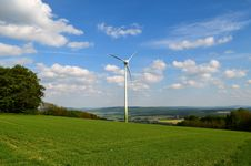 Free Grassland, Wind Turbine, Wind Farm, Windmill Royalty Free Stock Photo - 119034925