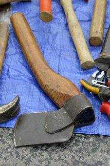 Free Axe, Tool, Antique Tool, Hatchet Stock Photography - 119035002