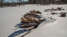 Free Snow, Winter, Geological Phenomenon, Wood Stock Photos - 119035153