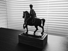 Free Man Riding On Horse Figurine Stock Images - 119061714