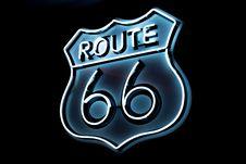 Free White And Blue Route 66 Logo Stock Photos - 119061753