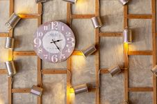 Free Analog Wall Clock Showing 2:25 Time Royalty Free Stock Image - 119061786