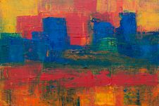 Free Closeup Photo Of Abstract Painting Stock Photography - 119308662