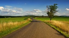 Free Photo Of Road In The Middle Of The Grass Field Stock Image - 119308691