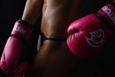 Free Photo Of Woman Wearing Pair Of Red Training Gloves Stock Images - 119308734