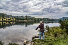 Free Woman Doing Fishing Royalty Free Stock Photos - 119382778