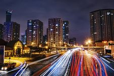 Free Time Lapse Photography Of City Road At Nighttime Stock Photography - 119382782