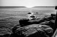 Free Sea, Black And White, Body Of Water, Water Royalty Free Stock Photos - 119411438