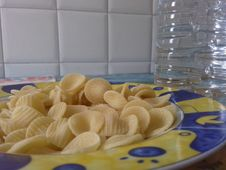 Free A Dish Of Orecchiette Still To Be Cooked Stock Photo - 119448080