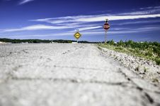 Free Stop Street Sign On Side Of Road Royalty Free Stock Image - 119467726