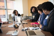 Free Four Woman At The Conference Room Stock Photos - 119611373
