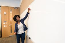 Free Woman Writing On Dry-erase Board Royalty Free Stock Photos - 119666328