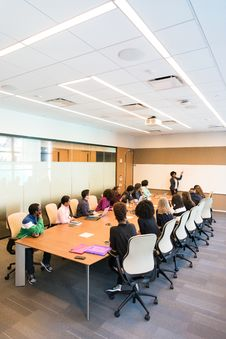 Free People Having Meeting Inside Conference Room Stock Photography - 119666332