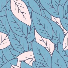 Free Seamless Abstract Floral Background With Leaves. Leaf Pattern Royalty Free Stock Image - 119684146