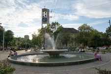 Free Water, Fountain, Water Feature, Town Square Stock Image - 119766291