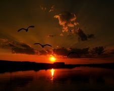 Free Sky, Reflection, Afterglow, Sunset Royalty Free Stock Image - 119767536