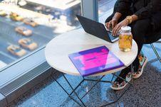 Free Person Using Black Laptop Computer Stock Photo - 119844610