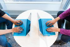 Free Two People Working On Laptops Stock Photography - 119844632