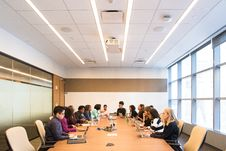 Free Group Of People In Conference Room Royalty Free Stock Photos - 119844708