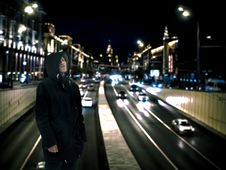 Free Man Wearing Black Hoodie With Road Background Stock Photography - 119844752