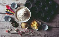 Free Ingredients On Table Royalty Free Stock Photos - 119844778