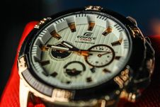 Free Closeup Photo Of Casio Edifice Chronograph Watch Royalty Free Stock Photography - 119844807