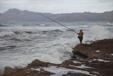 Free Sea, Casting Fishing, Coast, Rock Fishing Royalty Free Stock Photography - 119865637